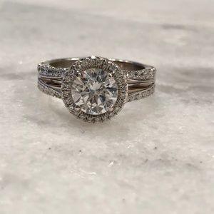 Platinum Diamond Ring Setting